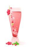 льдед стекла питья ягод Бесплатная Иллюстрация