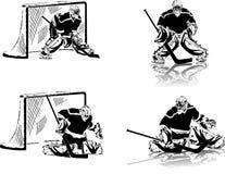 льдед хоккея голкиперов Стоковая Фотография