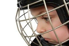 льдед хоккея мальчика Стоковое фото RF