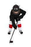 льдед хоккея мальчика Стоковые Фотографии RF