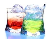 льдед чашки цвета коктеила Стоковые Фотографии RF