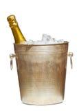 льдед шампанского ведра бутылки Стоковое фото RF
