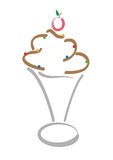 льдед шоколада Стоковая Фотография