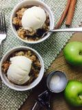 льдед яблока cream хрустящий Стоковые Фото
