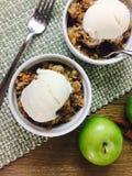 льдед яблока cream хрустящий Стоковое Изображение RF