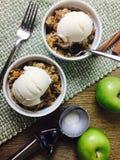 льдед яблока cream хрустящий Стоковое Изображение