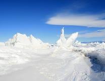 льдед hummocks Стоковая Фотография