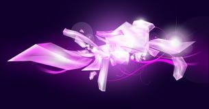 льдед кристаллов предпосылки Стоковая Фотография RF