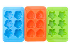 льдед кубика контейнера Стоковое Изображение
