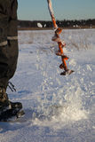 льдед отверстия Стоковая Фотография