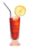 льдед питья изолировал чай лимона Стоковые Изображения
