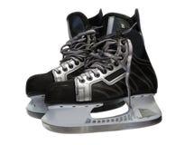 льдед хоккея прихотей над белизной Стоковая Фотография