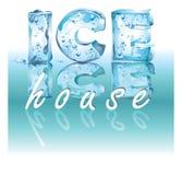 льдед дома Стоковые Изображения