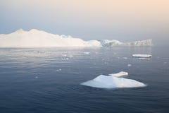 Льды и айсберги полярных областей земли Стоковые Изображения