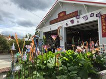 Лэнгли, Вашингтон, остров Whidbey, стеклянное искусство Стоковое Изображение RF