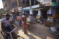 любая улица места многодельного города индийская типичная Стоковые Изображения RF