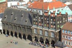 Любек - старая ратуша стоковые изображения rf