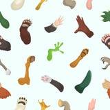 Любимчики животного вектора лапки animalistic царапают или рука здравствуйте! кота или собаки и медведей или млекопитающих иллюст Стоковая Фотография