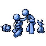 любимчики семьи шаржа Стоковое Изображение RF