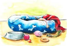 любимчик кровати Стоковое Изображение RF