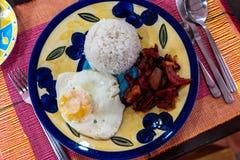 Любимые завтраки филиппинцев - тапы говядины стоковая фотография