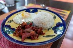 Любимые завтраки филиппинцев - тапы говядины стоковое изображение rf