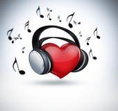Любитель музыки иллюстрация штока