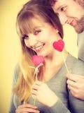 Любить обстрагивает при сердца flirting Стоковое фото RF