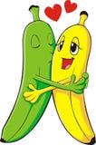 любовники банана Стоковое Фото