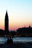 Любовники в Венеции Стоковое Изображение