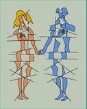Любовники держа руки бесплатная иллюстрация