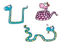 Любовники змейки талисмана женские мужские Стоковое Изображение RF