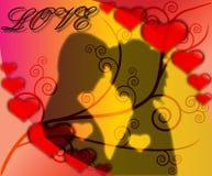 любовники пар предпосылки Иллюстрация штока