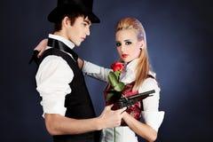любовники пар Стоковые Фото