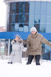 любовники пар 2 детеныша Стоковая Фотография