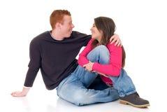 любовники подростковые Стоковое Фото