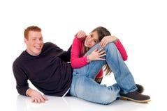любовники подростковые Стоковое фото RF