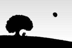Любовники под деревом Стоковые Изображения RF