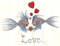 любовники рыб Стоковое Изображение