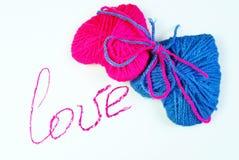 любовники 2 сердца Валентайн дня s Любовь Стоковая Фотография