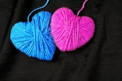любовники 2 сердца Валентайн дня s Любовь Стоковая Фотография RF