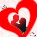 любовники сердца Стоковое Фото