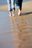 любовники следов ноги Стоковое фото RF