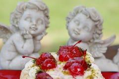любовники торта стоковое фото rf