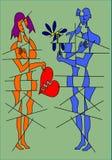 любовники иллюстрация вектора