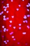 Любовники Boke сердца стоковая фотография
