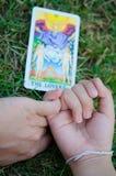 любовник влюбленности делает реальное tarot Стоковая Фотография