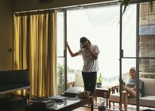 Любовник пар живя совместно домой Стоковое фото RF