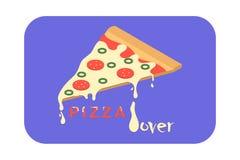 Любовник пиццы иллюстрация вектора
