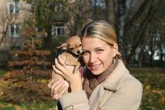 любовник собаки Стоковые Фото